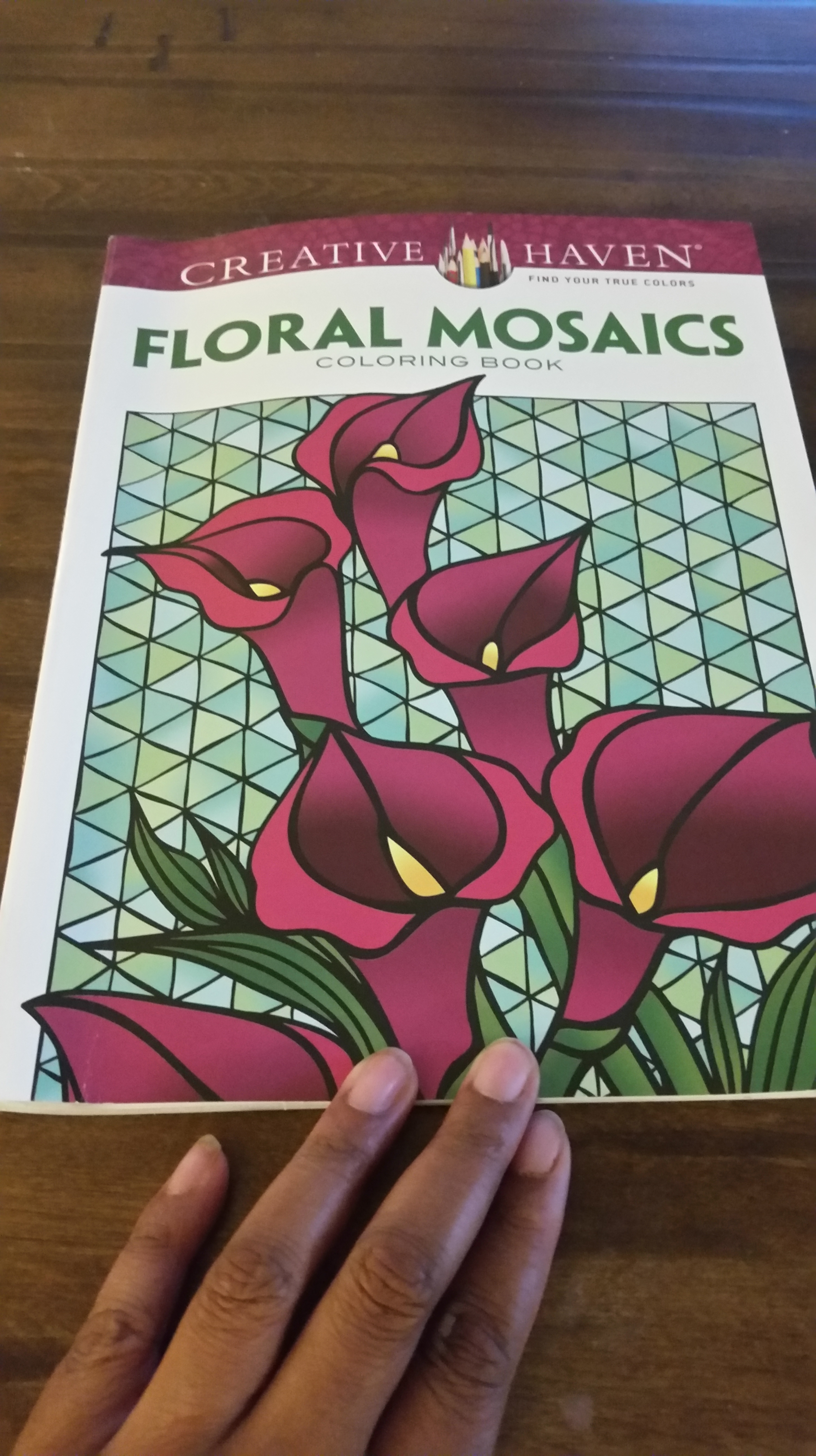 I Could Use A Stress Reliever So Picked Up This Creative Haven Floral Mosaics Book And Colored Away Got It From Michaels For 599